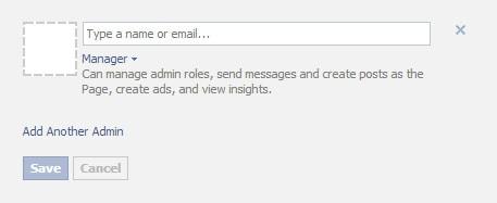 Facebook add Admin
