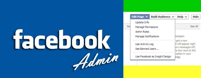 How can I create a separate admin account for my existing facebook page?