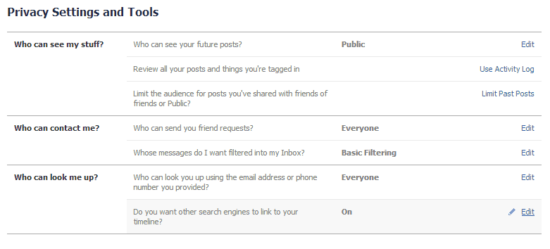 Instructions to be added as a Facebook admin
